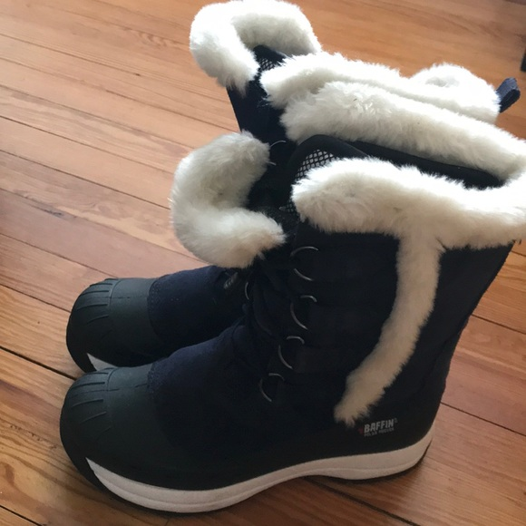 Baffin Shoes - Baffin snow boots navy blue and white